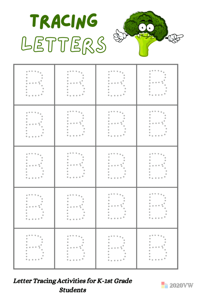 Letter Tracing Activities for K-1st Grade Students