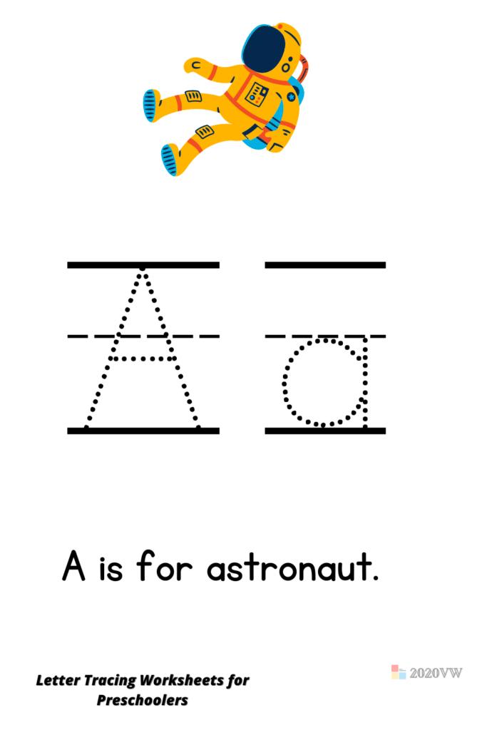 Letter Tracing Worksheets for Preschoolers