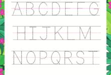 Printable Beginner Kindergarten Alphabet worksheets