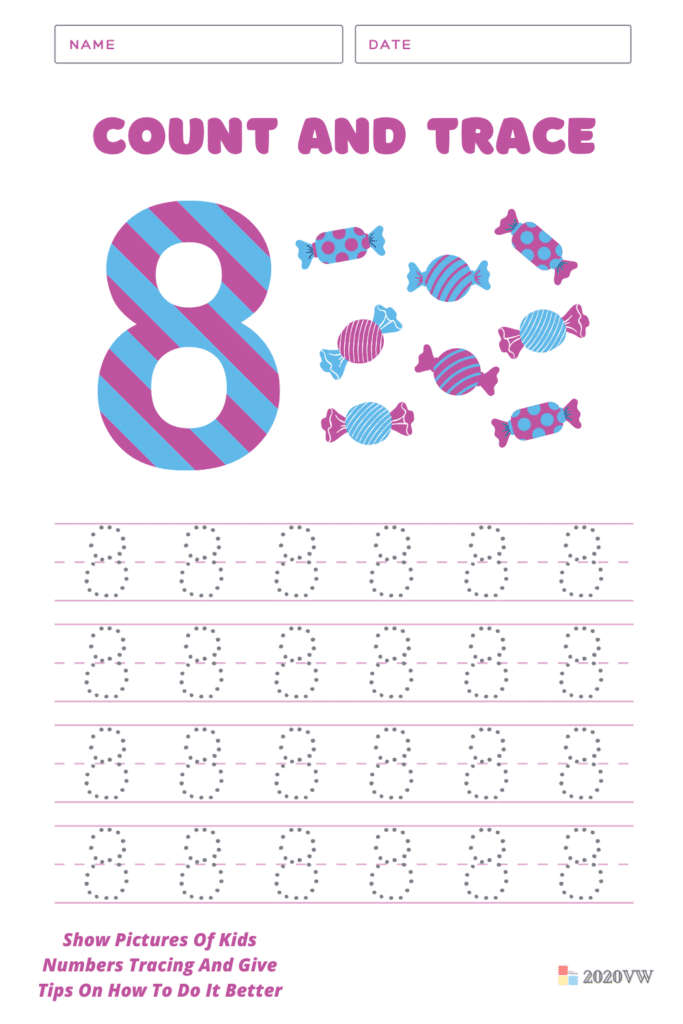 Show Pictures Of Kids Numbers Tracing And Give Tips On How To Do It Better