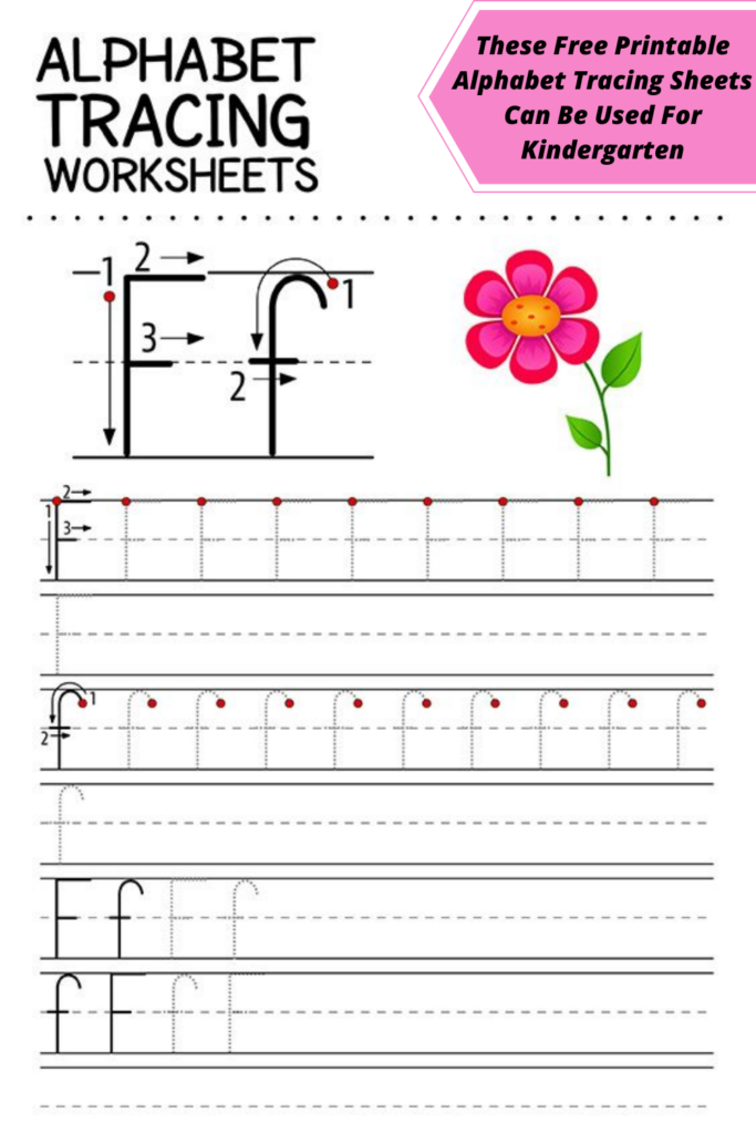 These Free Printable Alphabet Tracing Sheets Can Be Used For Kindergarten