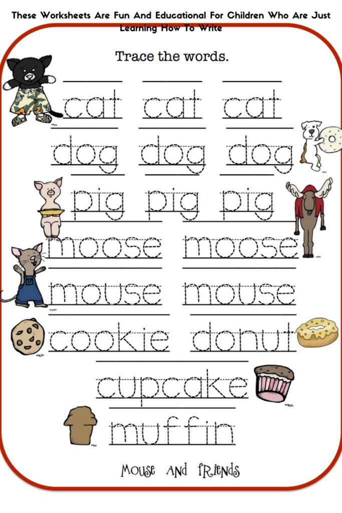 These Worksheets Are Fun And Educational For Children Who Are Just Learning How To Write