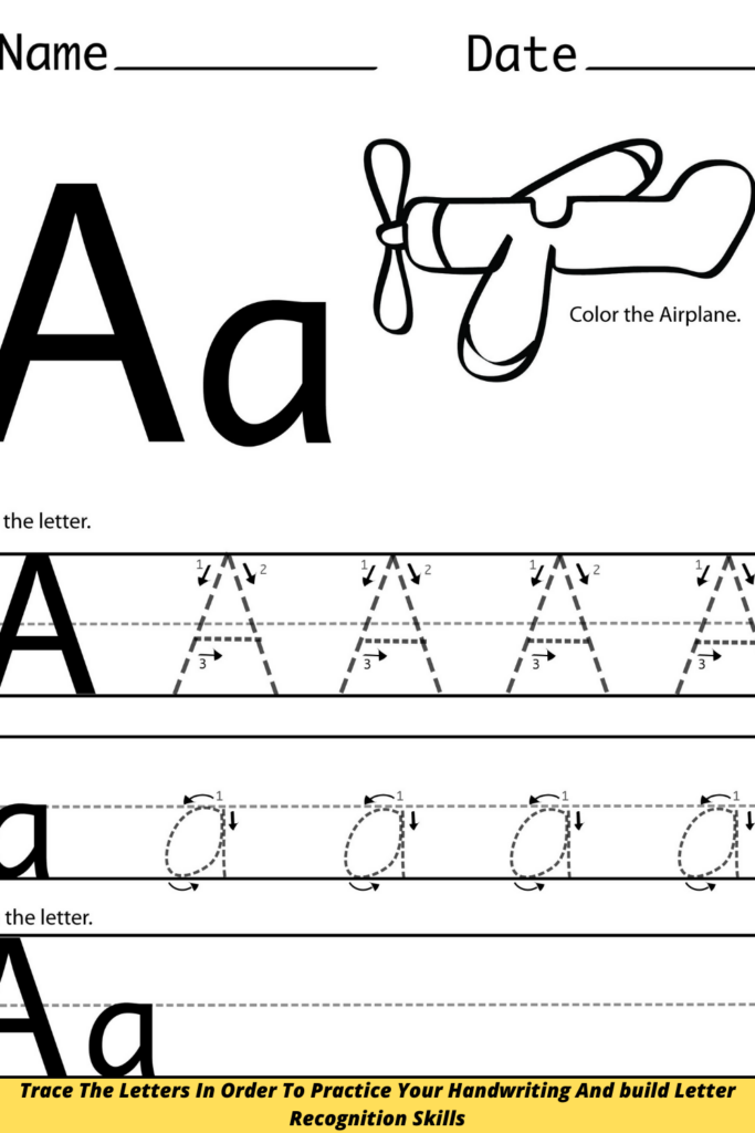 Trace The Letters In Order To Practice Your Handwriting And build Letter Recognition Skills