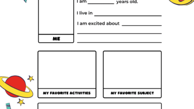 Free Printable All About Me Worksheets Preschool