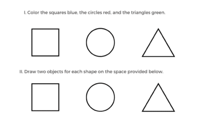 Free Printable Shapes Worksheets for Preschool Students