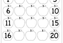 Missing Numbers Chart 1 - 25 Printable Worksheets For Kindergarten