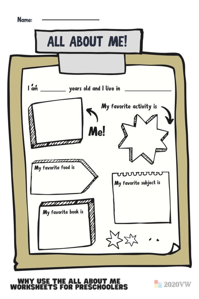Why Use The All About Me Worksheets For Preschoolers